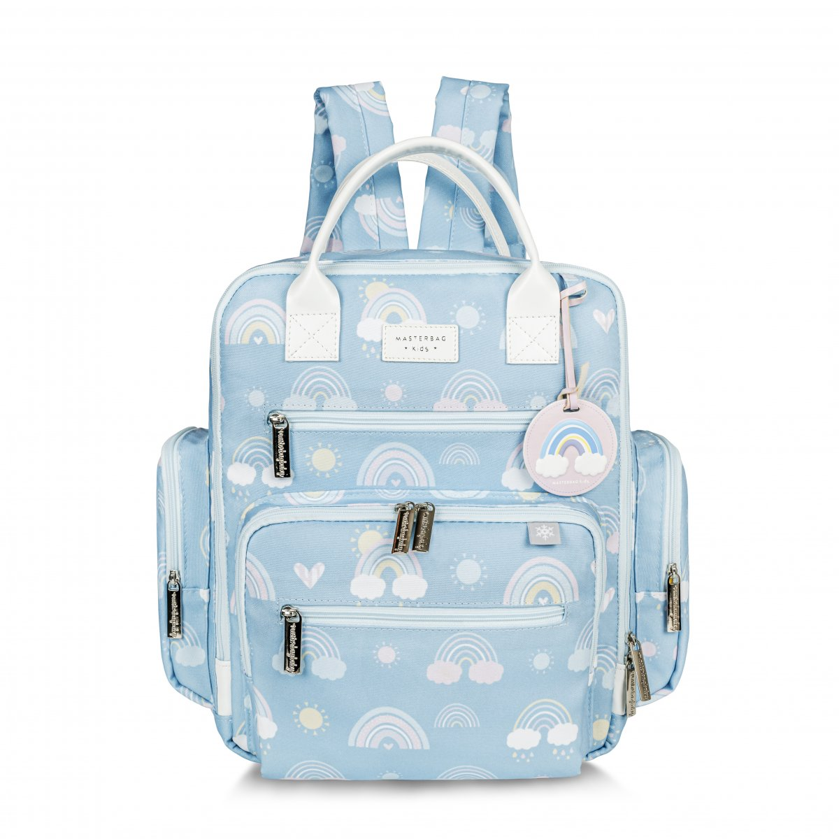 Mochila Maternidade Urban Arco-íris Masterbag Azul