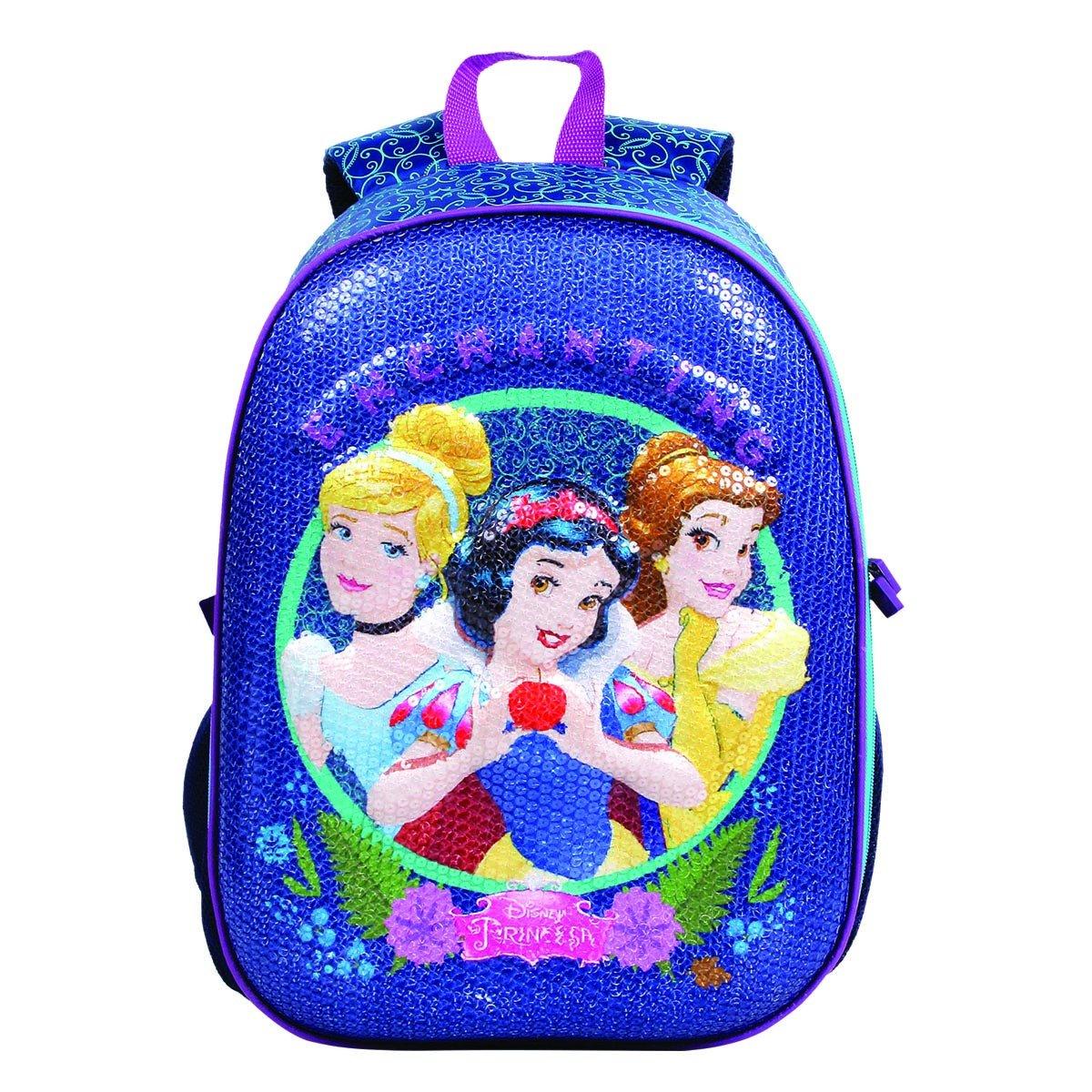 Mochila Princesas Disney 3D Paete   Cor: Azul
