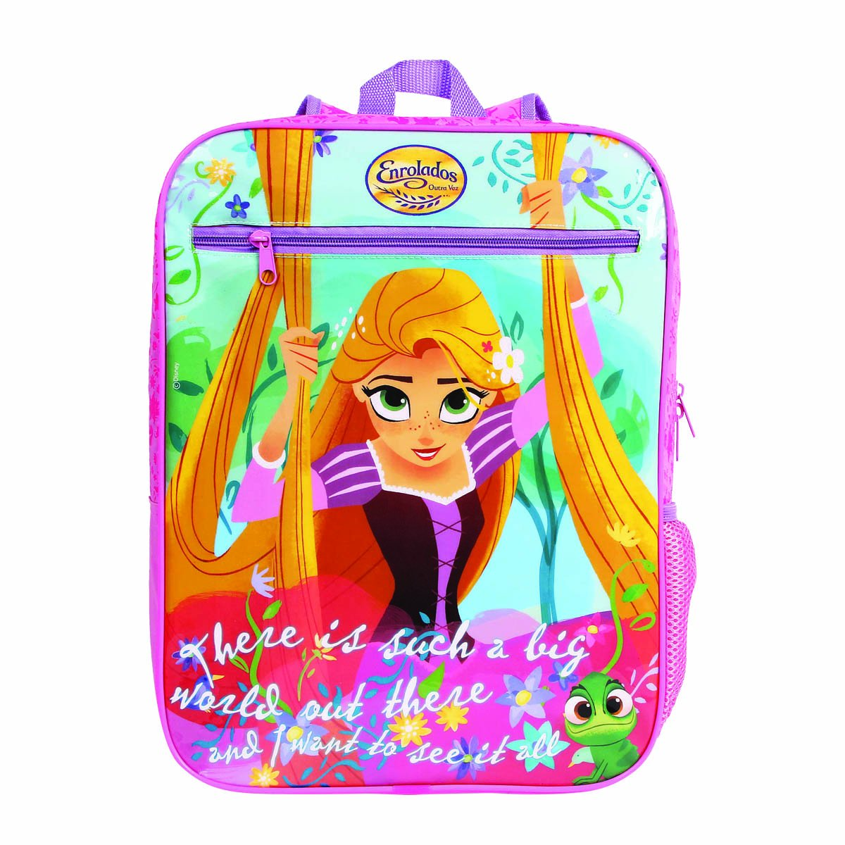Mochila Rapunzel Enrolados Outra Vez   Cor: Rosa/Lilás