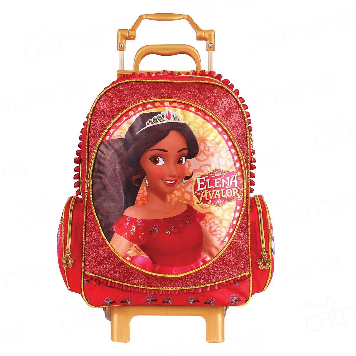 Mochila Rodinha Disney Elena de Avalor G   Cor: Vermelho