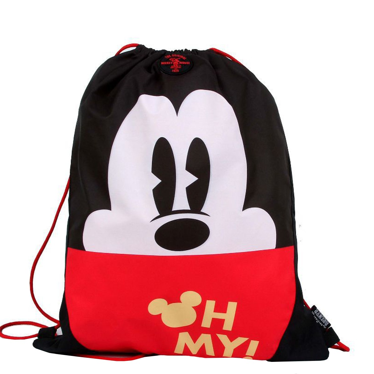Mochila Saco Disney Mickey Mouse Oh My! | Cor: Preto