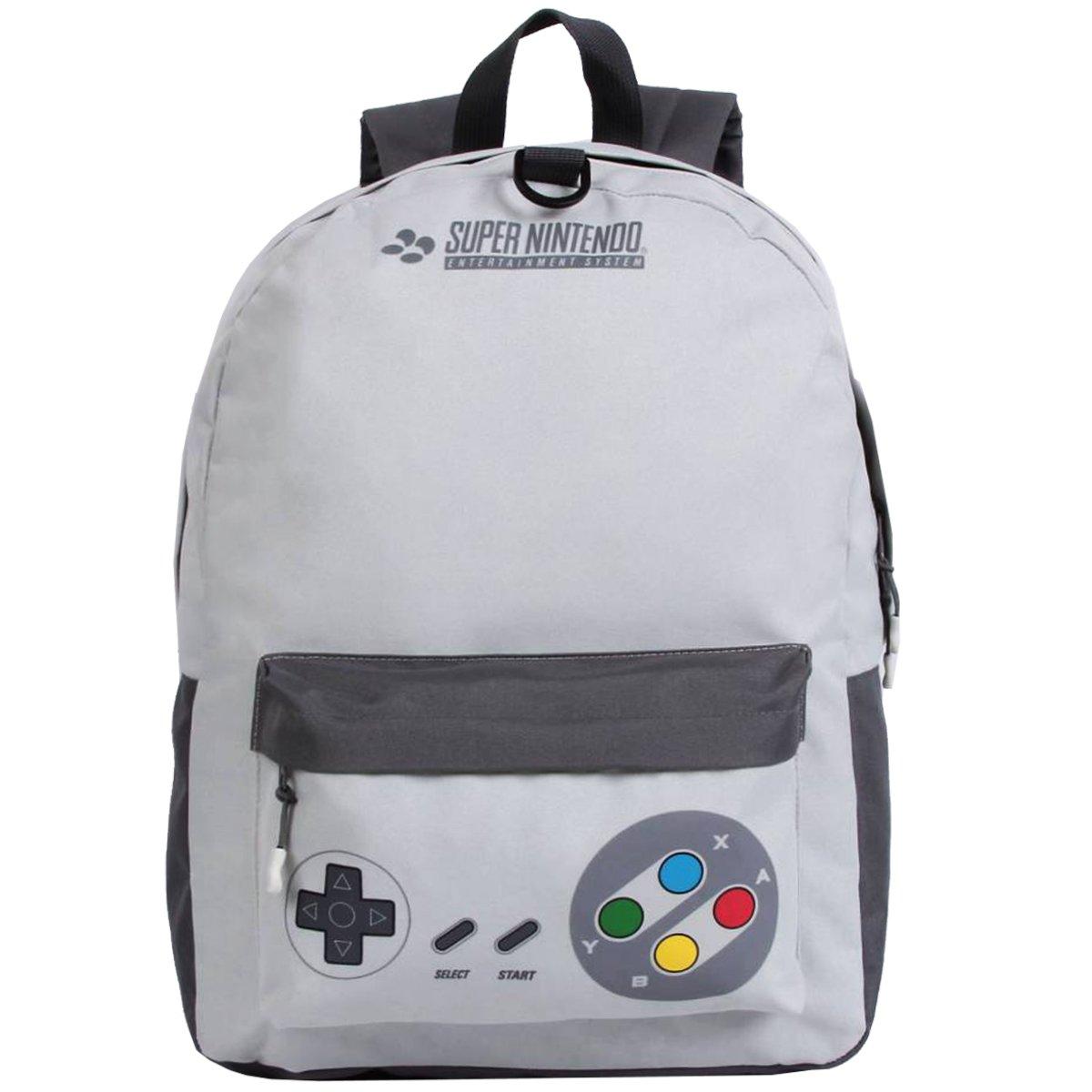 Mochila Super Nintendo Com Fone | Cor: Cinza