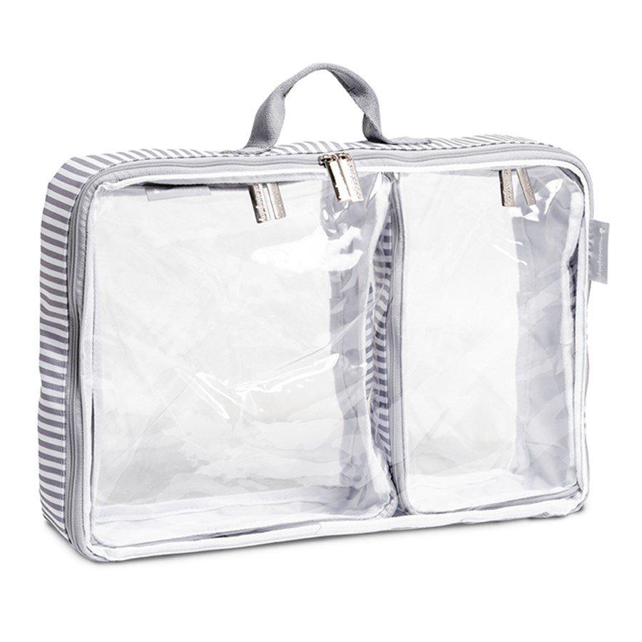 Organizador de Mala Nórdica Masterbag Kit com 3 Cinza/Branco