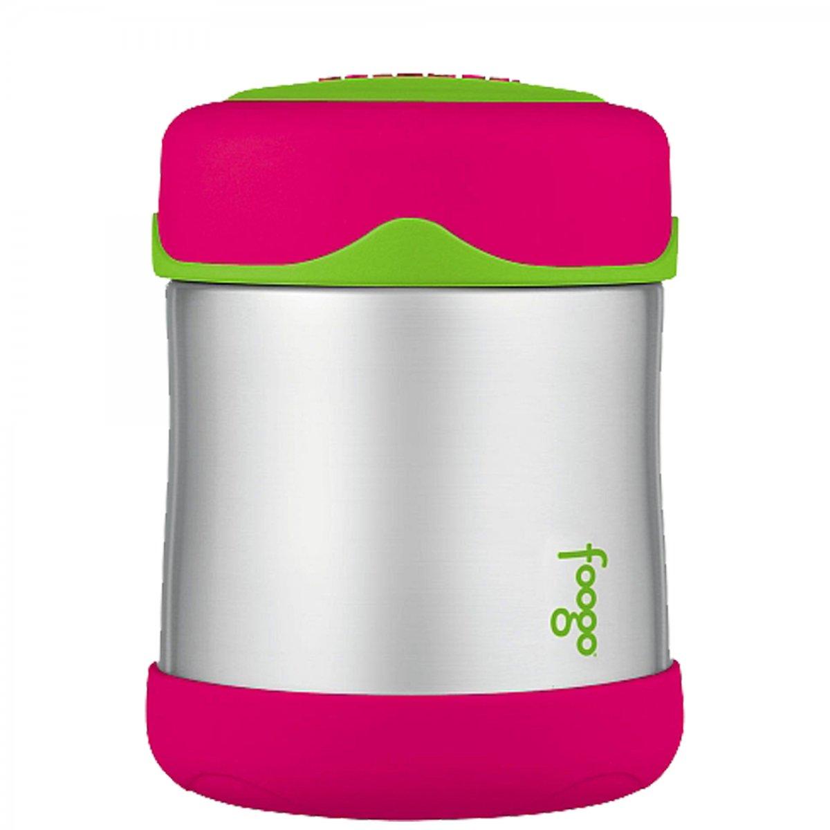 Pote Inox Térmica Thermos Foogo  | Cor: Melancia/ Verde