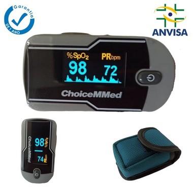 Oxímetro de Pulso de Dedo Com Onda e Tela Rotacional - Kit 20 unid