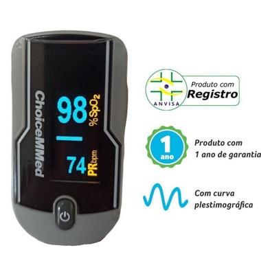 Oxímetro de Pulso de Dedo Com Onda e Tela Rotacional - Kit 50 unid