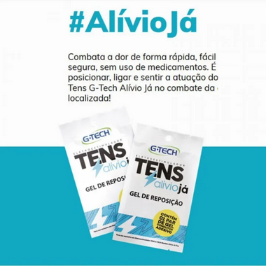 Gel Reposicao Tens Alivio Ja 1 Par G-Tech