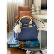 Bolsa Pequena -  Linho Azul Marinho Layla
