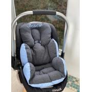 Colchão Bebê Conforto - Chumbo / Azul Liso
