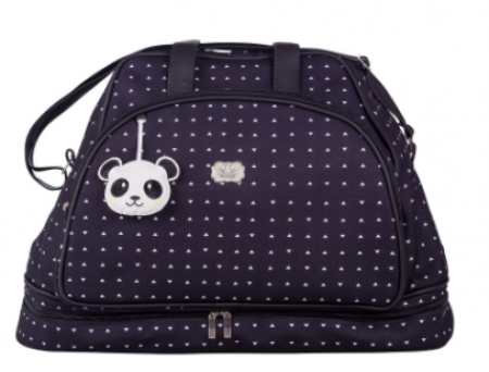 Mala Maternidade Sacola-  Panda Preto
