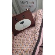 Ninho - Urso com Detalhes em marrom e rosa