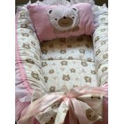Ninho- Urso com Rosa liso