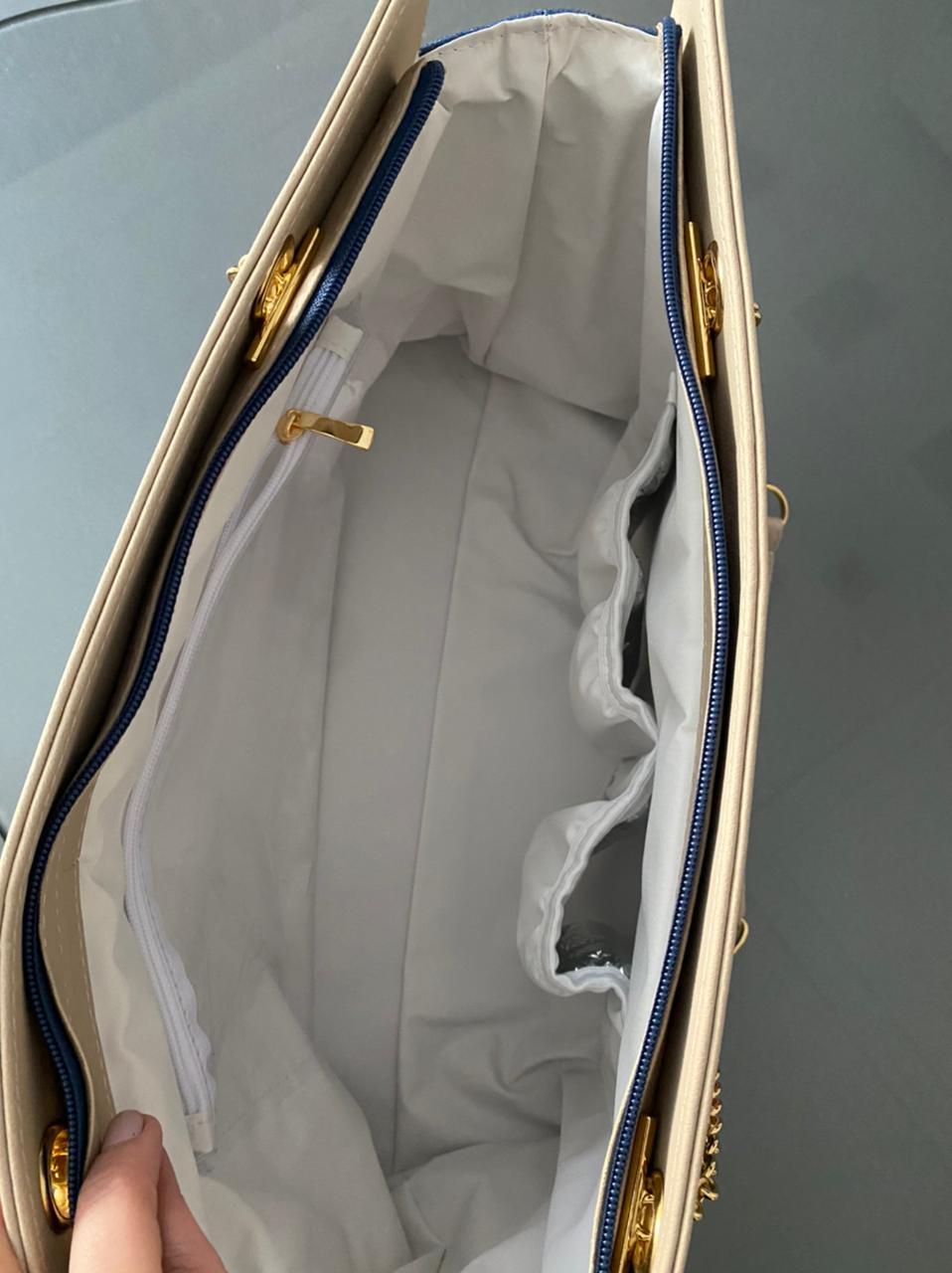 Bolsa Layla  - Linho Azul Marinho Layla