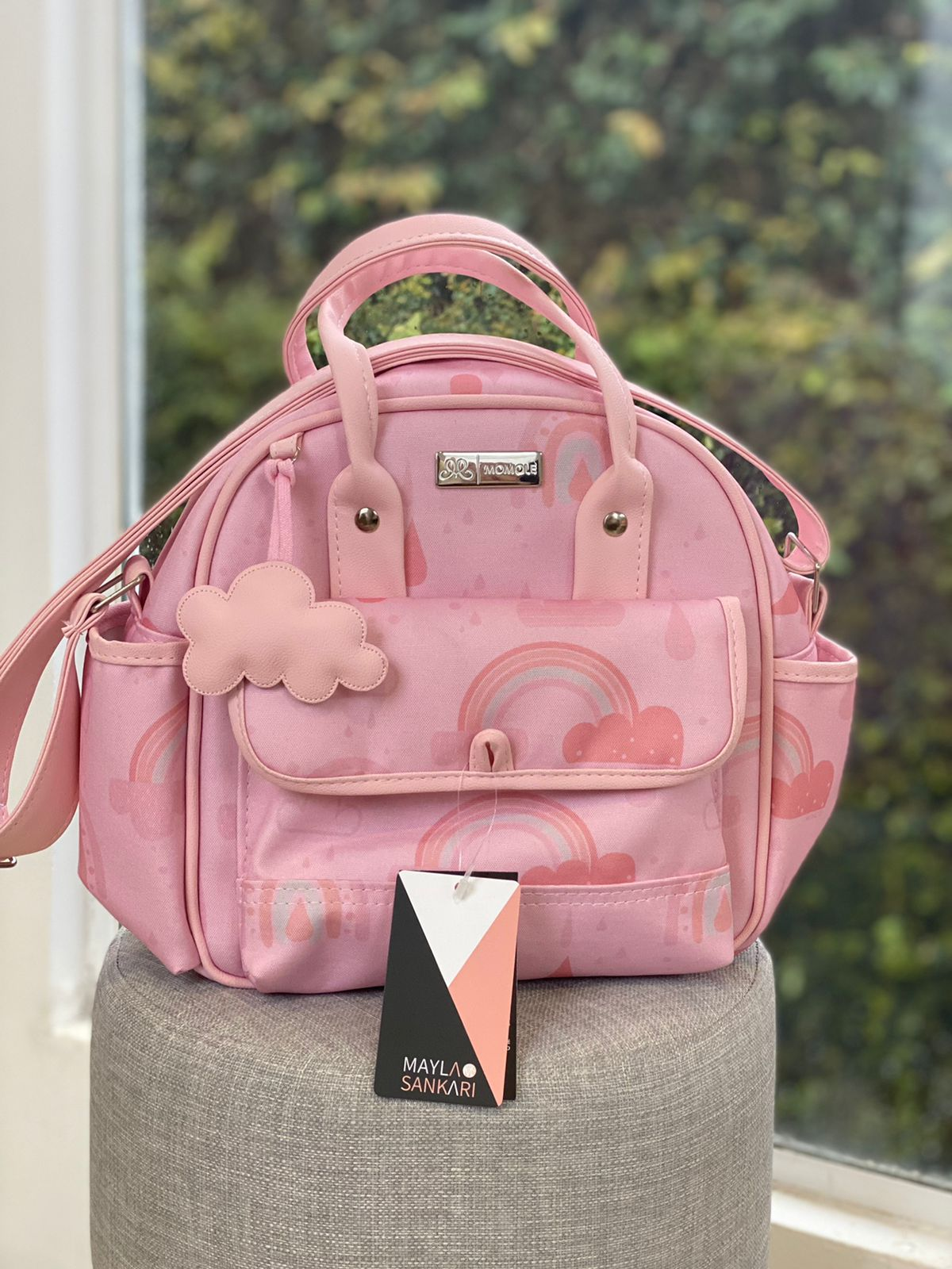 Bolsa Pequena -  Arco Íris - Rosa