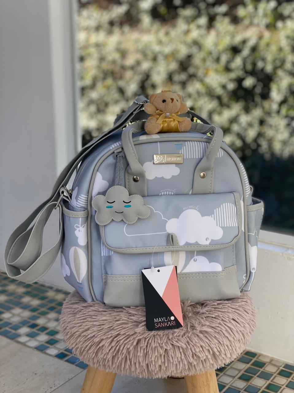 Bolsa Pequena -  Balão Cinza