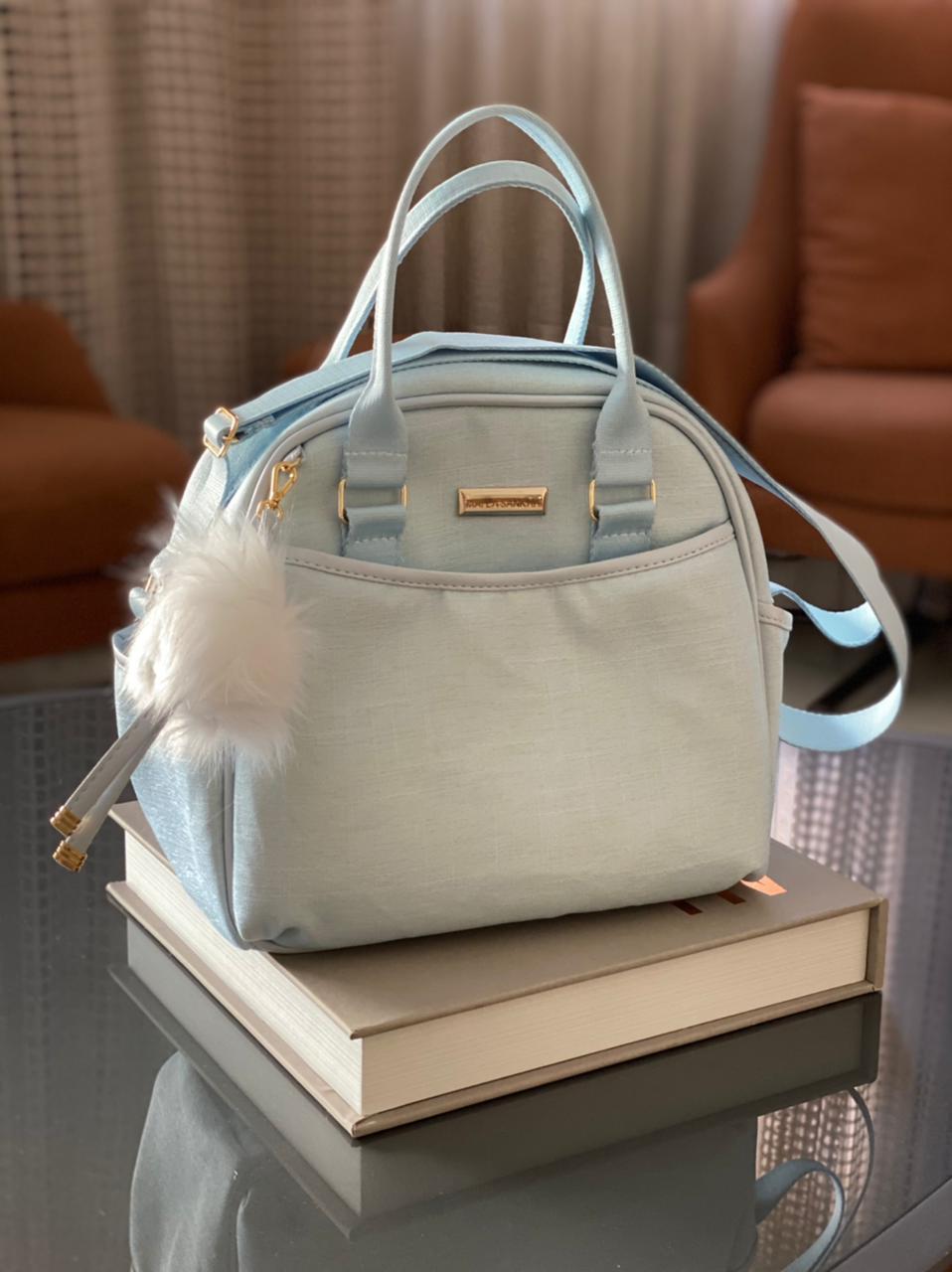 Bolsa Pequena - Linho Azul Bebê Layla
