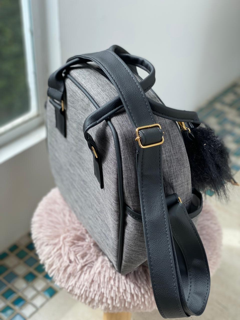 Bolsa Pequena - Linho Preto