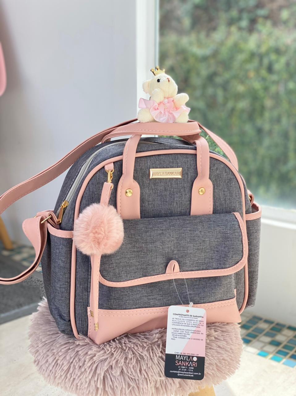 Bolsa Pequena - Linho Rosa