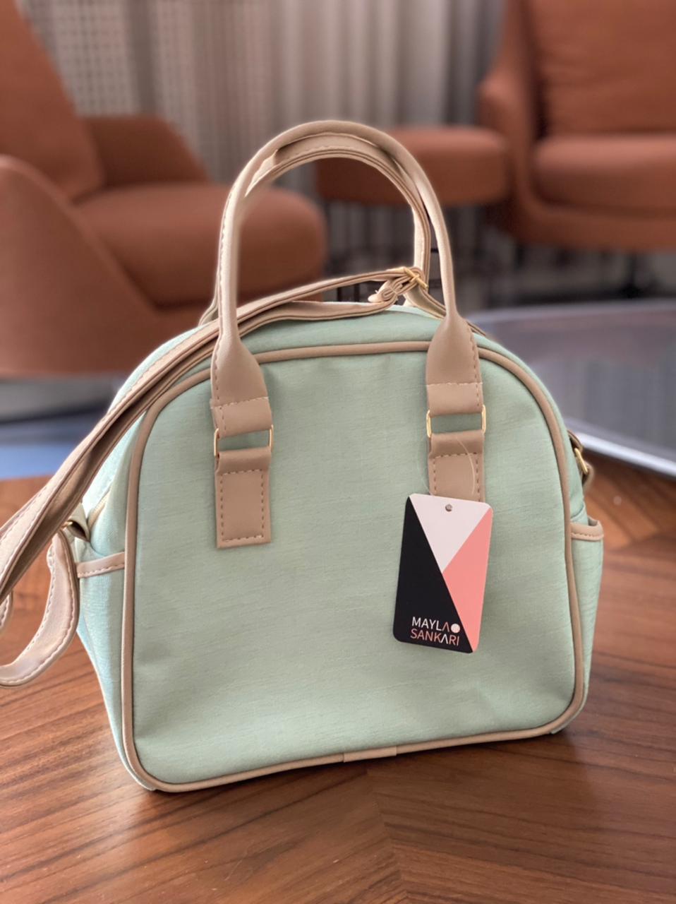 Bolsa Pequena - Linho Verde Layla