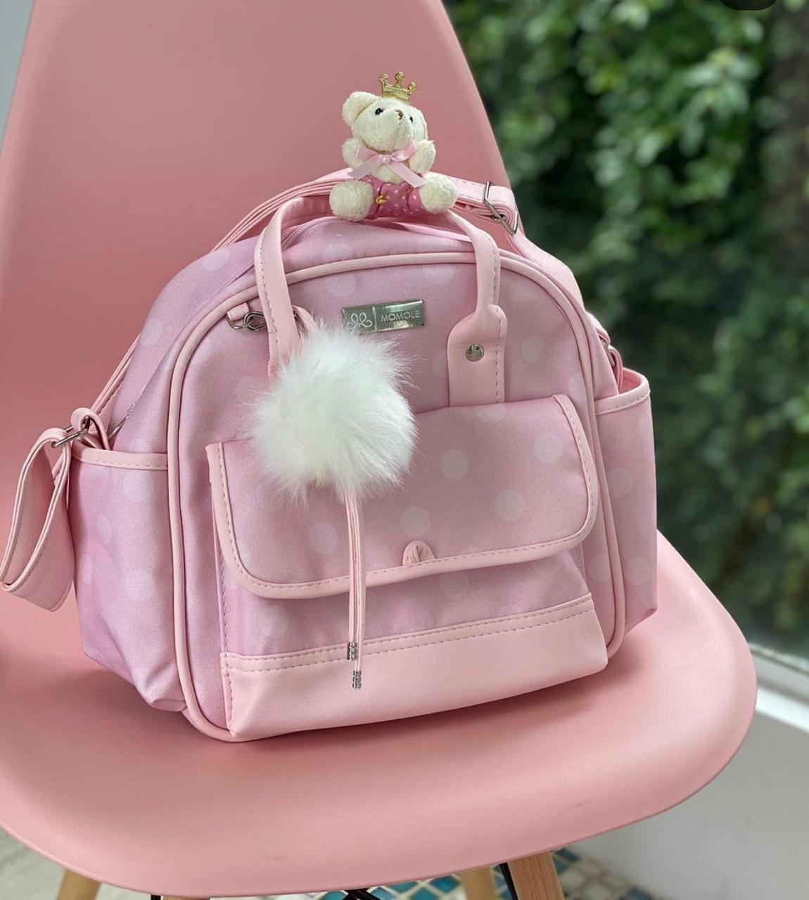 Bolsa Pequena -   Poá Rosa
