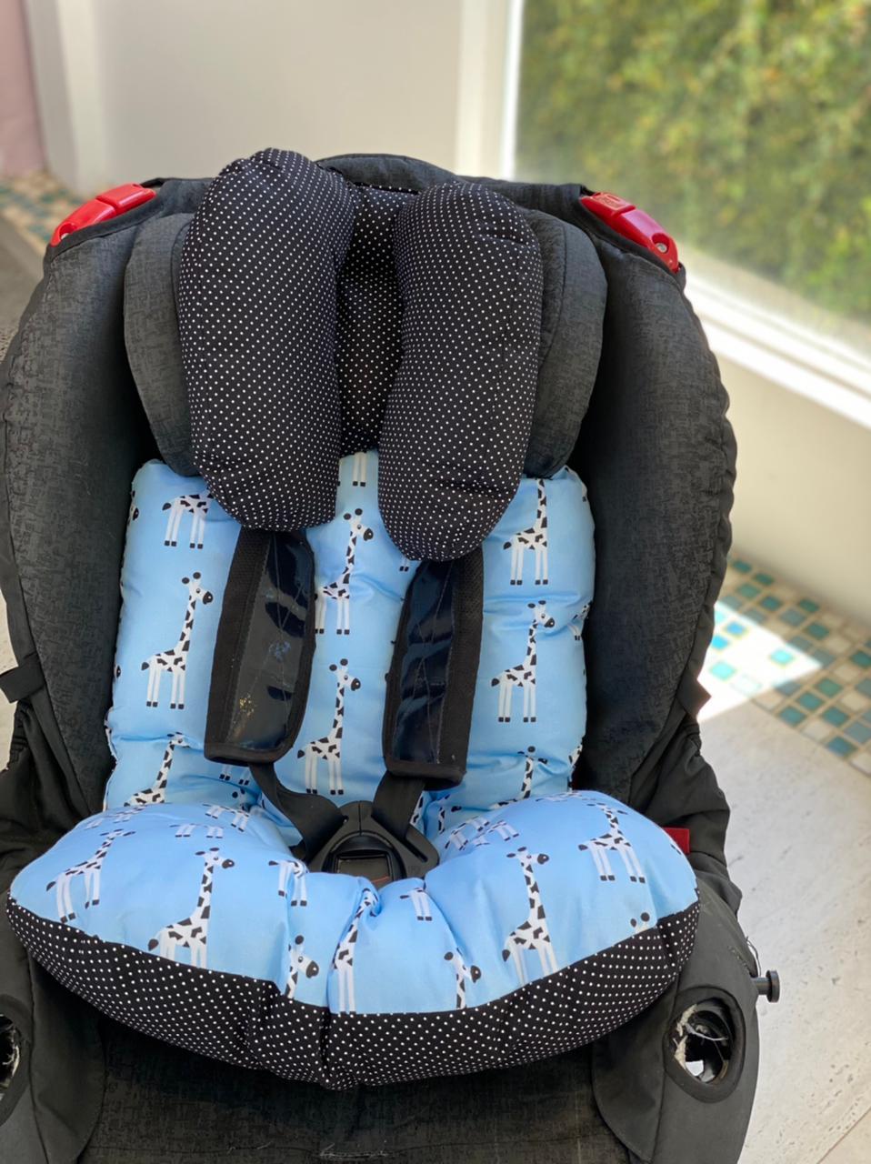 Colchão para Cadeirinha de Carro   Girafa Azul