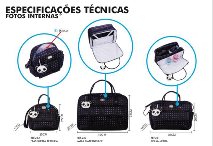 Kit 3 Bolsas Leão
