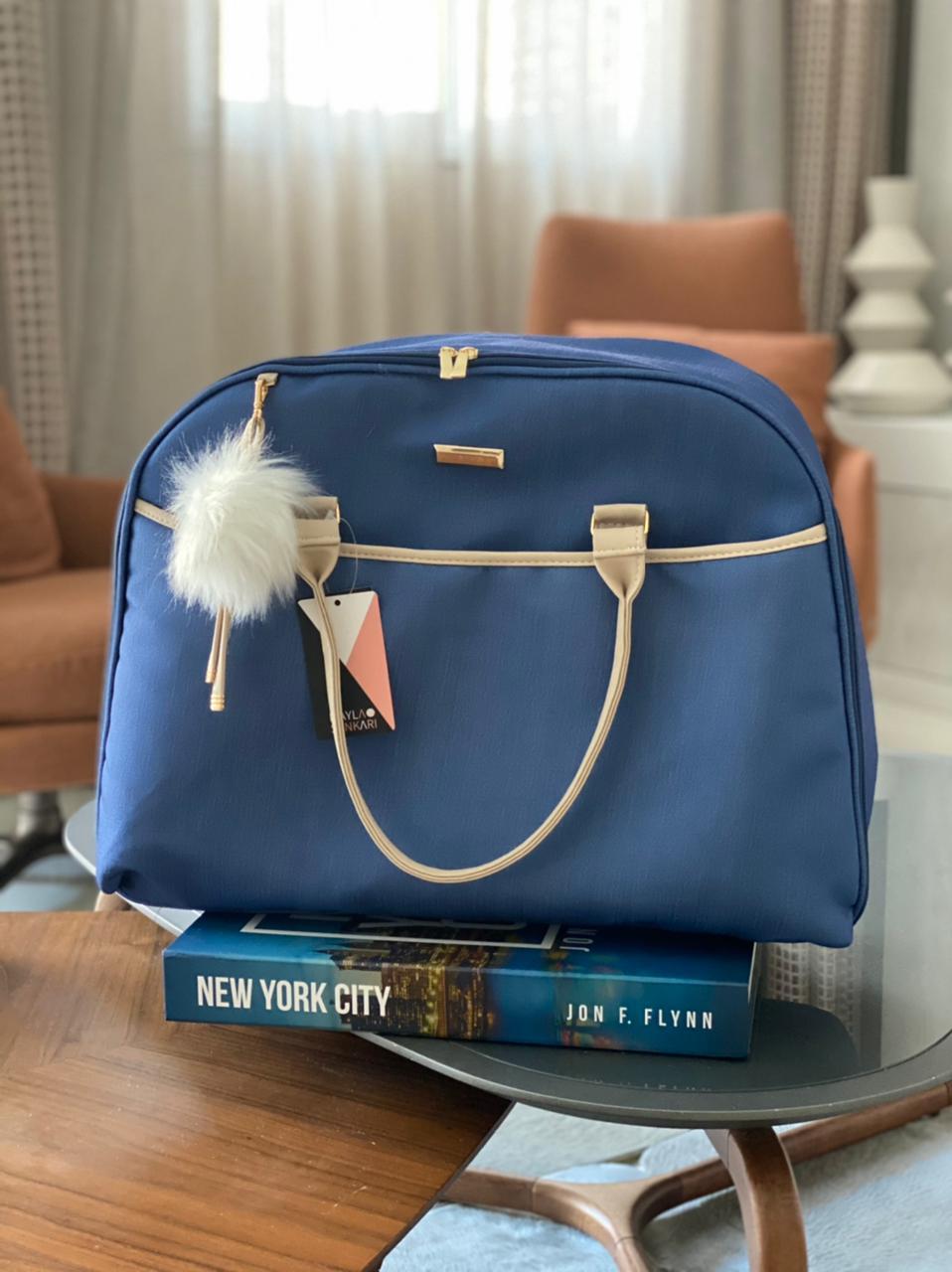 Kit 3 Bolsas - Linho Azul Marinho Layla