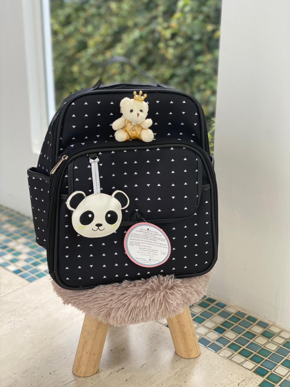 Kit 3 Bolsas Panda Preto