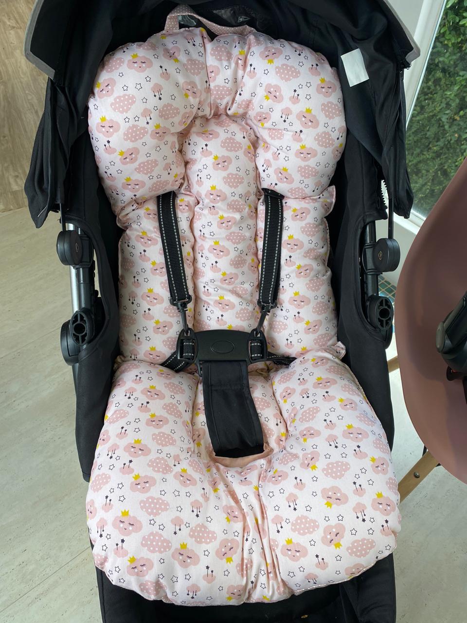Kit Colchão Carrinho e Bebê Conforto -Nuvem Feliz