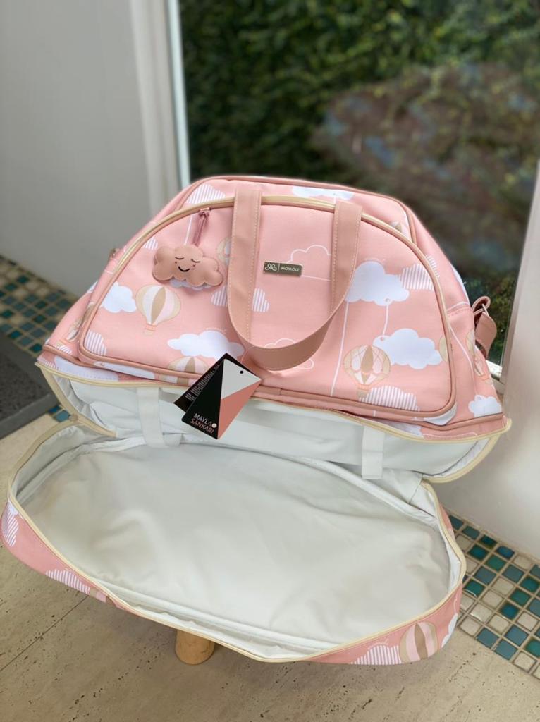 Mala Maternidade Sacola-  Balão Rosa