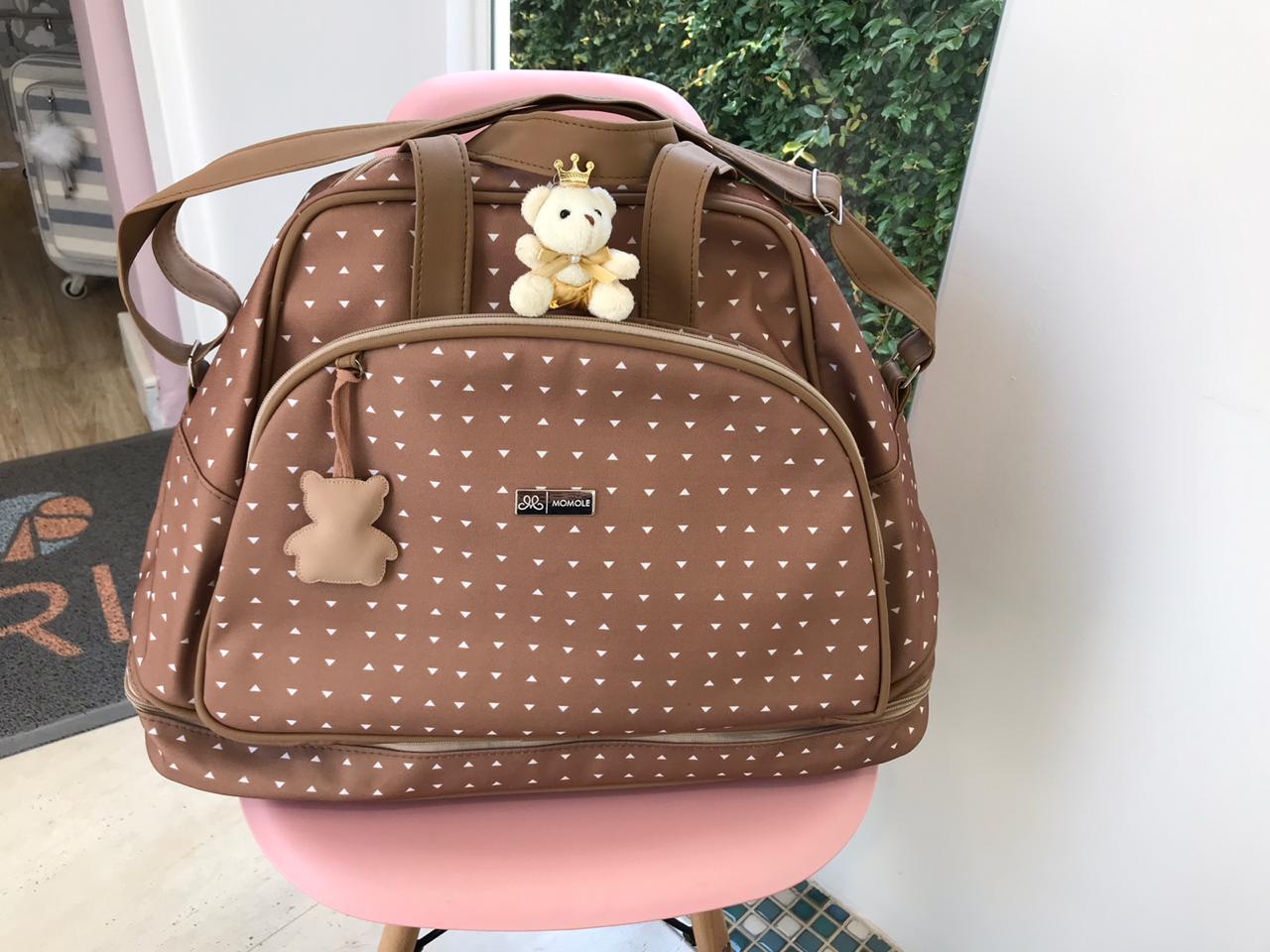 Mala Maternidade Sacola-  Urso Caramelo