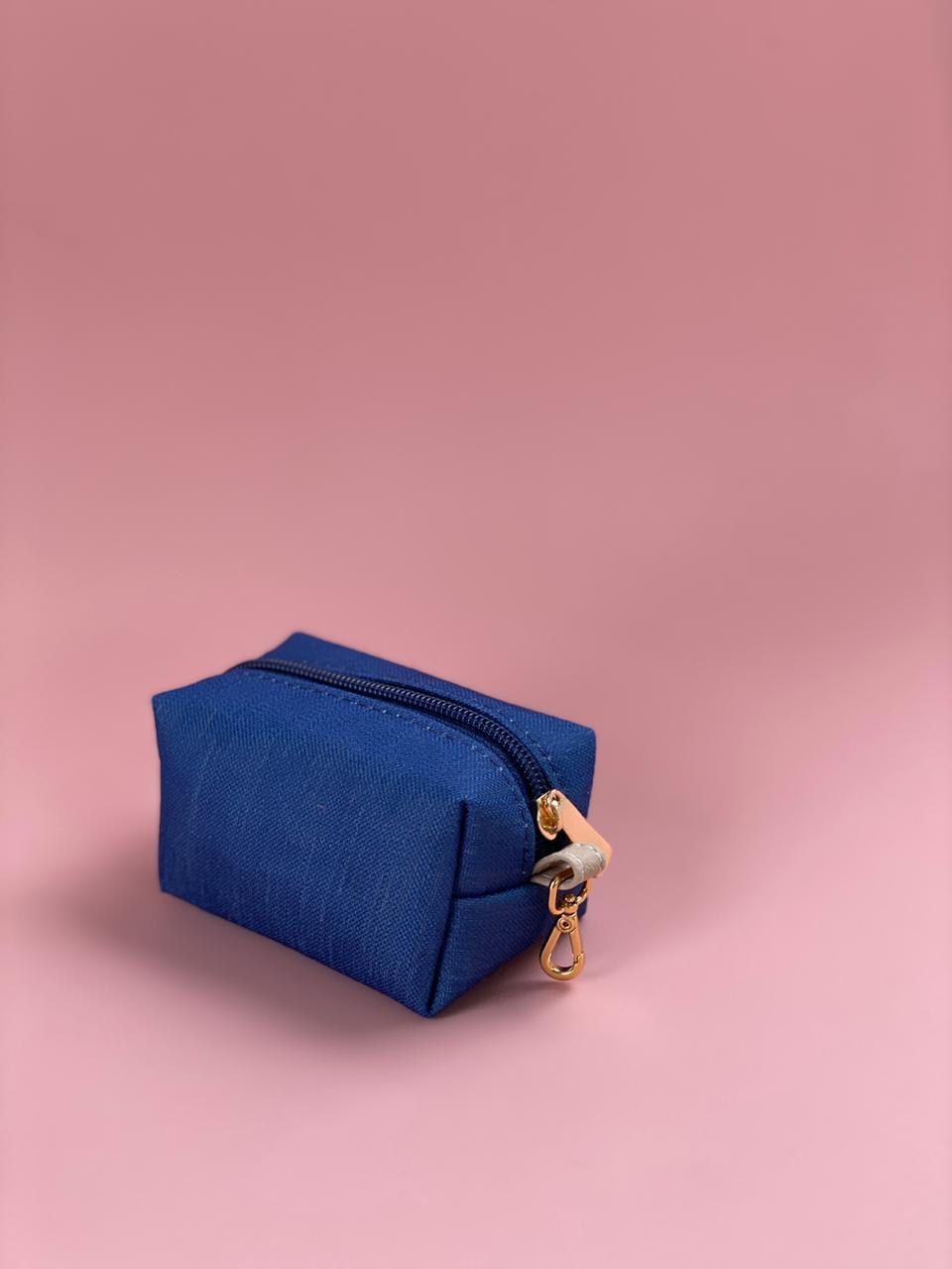Porta Chupetas - Linho Azul Marinho  Layla