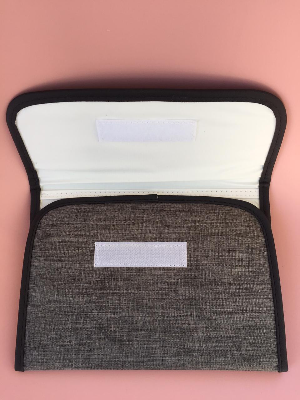 Porta Documentos Vacina- Linho Preto