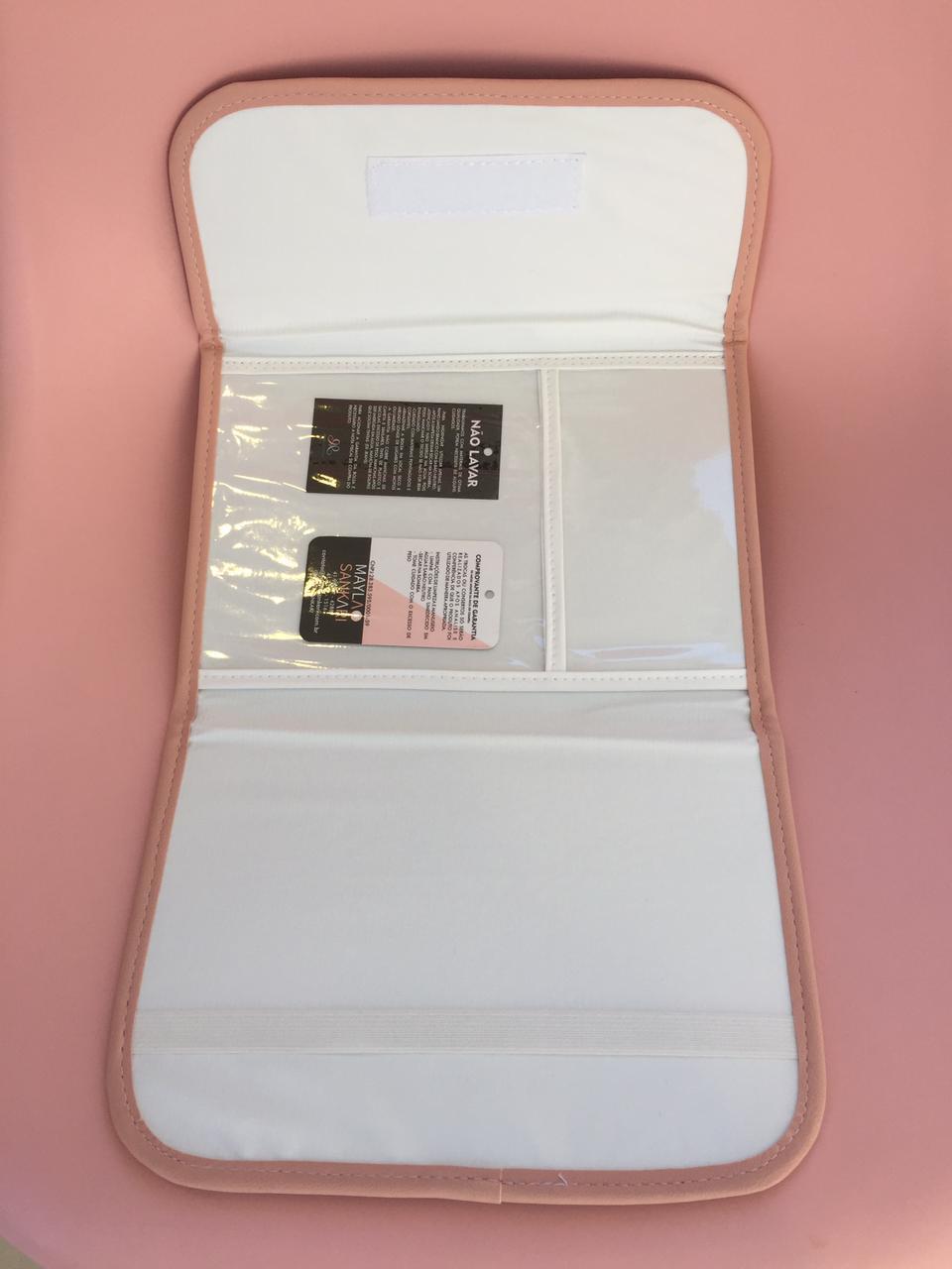Porta Documentos Vacina- Linho Rosa