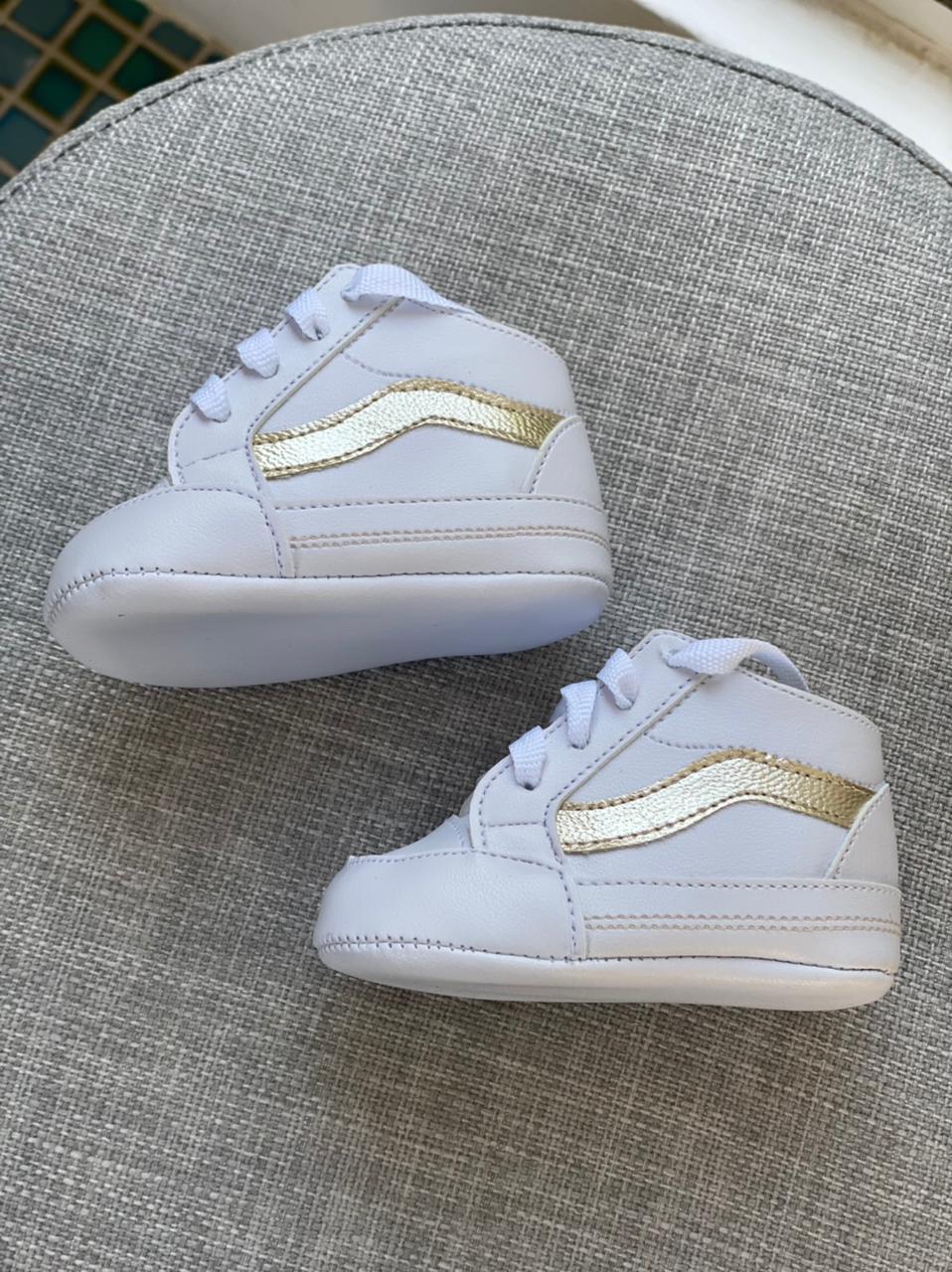 Tennis  Vans - Branco com Dourado