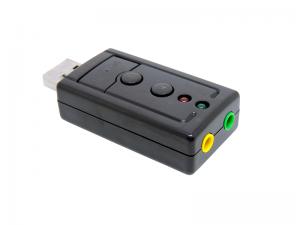 ADAPTADOR DE SOM USB 2.0 EXTERNO 7.1 CANAIS EXBOM USOM-10