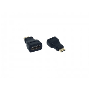 ADAPTADOR HDMI FEMEA PARA MINI HDMI MACHO EXBOM COD. 01221