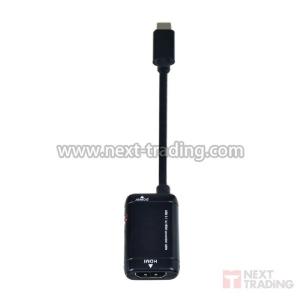 ADAPTADOR TIPO C MACHO X HDMI FEMEA C/ AUDIO P/ S9 S8 NOTE8 E MACBOOK INFOKIT/EXBOM BY-V62 COD. 2881