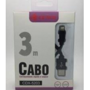 CABO DE DADOS CORDA 3M V8/MICRO USB GENAI CDX-5203