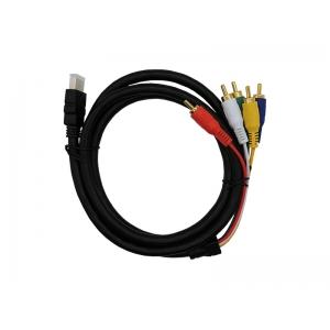 CABO HDMI P/ 5 RCA(AV) MACHO AUDIO E VIDEO 1.5M INFOKIT/EXBOM COD. 2802