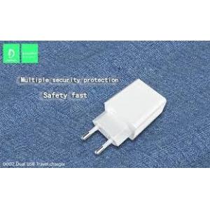 FONTE CARREGADOR PAREDE DUAL USB 2.4A DENMEN DC02