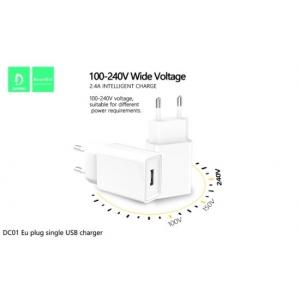 FONTE CARREGADOR PAREDE SINGLE USB 2.4A DENMEN DC01