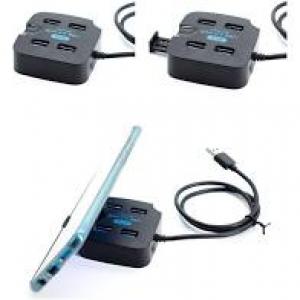 HUB USB 3.0 4 PORTAS COM SUPORTE PARA CELULAR KNUP KP-T121