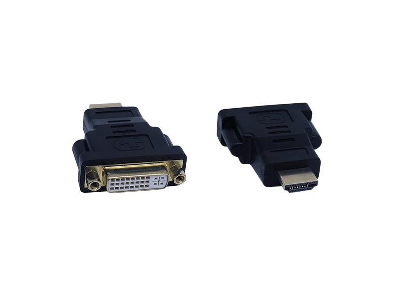 ADAPTADOR DVI FEMEA 24+5 PARA HDMI MACHO EXBOM COD. 03121