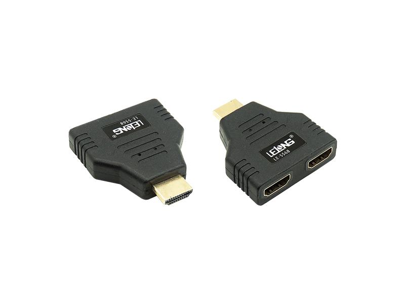 ADAPTADOR HDMI EM Y 1 MACHO X 2 FÊMEAS LELONG - LE-5568