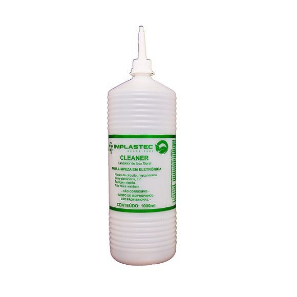 ALCOOL IMPLASTEC CLEANER 1000 ML LIMPEZA ELETRONICA USO GERAL