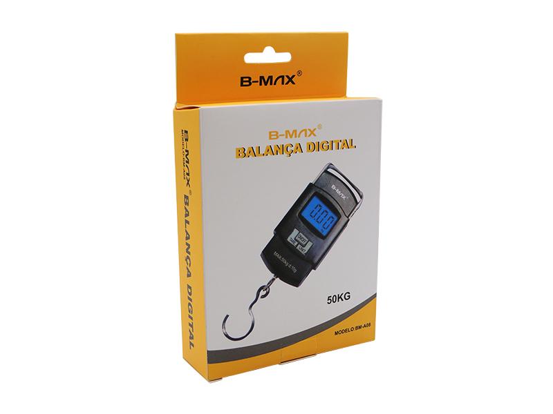 BALANCA DIGITAL COM GANCHO BAGAGEM MALA BMAX BM-A08