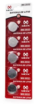 BATERIA MOX MO-2032 CARTELA COM 5 PCS