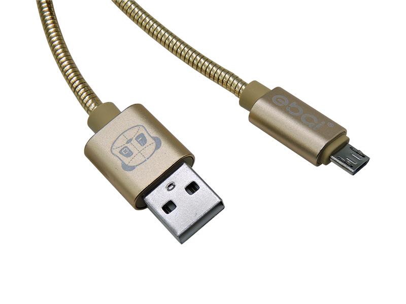 CABO DE DADOS 1M METAL V8/MICRO USB EBAI CDX-A6011