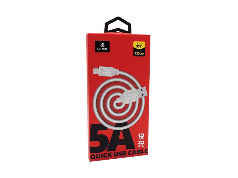 CABO DE DADOS 5A V8/MICRO USB QUICK BOX GENAI S531